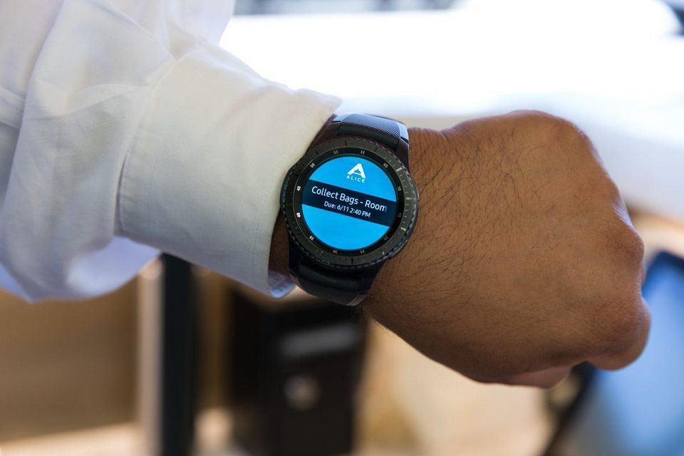wine article Samsung Gear S3 Could Improve Hotel Housekeeping Smartwatch Means Better Room Service