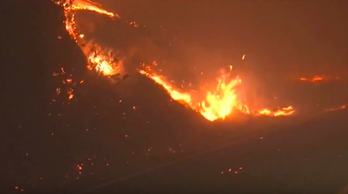 Massive wildfires in Napa and Sonoma counties burn structures force evacuations